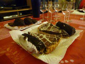 Selección de chocolates para combinar con vino y destilados