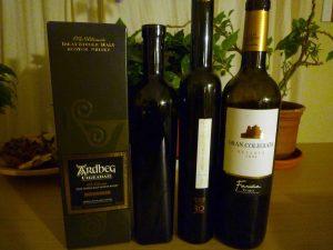 Vinos y destilados (whisky) tras el maridaje con chocolates
