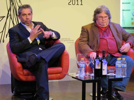 Jay Miller, a la derecha, y Pancho Campo, los dos protagonistas del escándalo del vino español