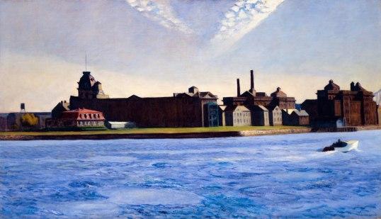 """Uno de los cuadros de la exposición que más me gustó, """"Blackwell's Island"""""""