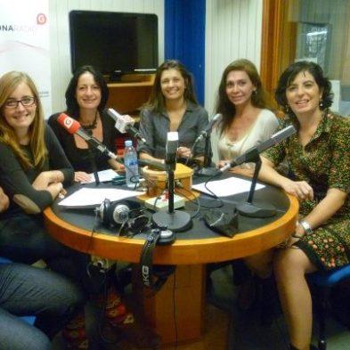 Carmen, Laura, Alexandra, Isabel (Prinz) y yo antes de Comer con los ojos. Tras la cámara, Carlos