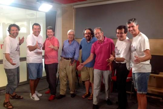 Aftershave Quartet con Carlos Santos, Luis Figuerola Ferreti, el tenor José Manuel Zapata y Fernando Palacios